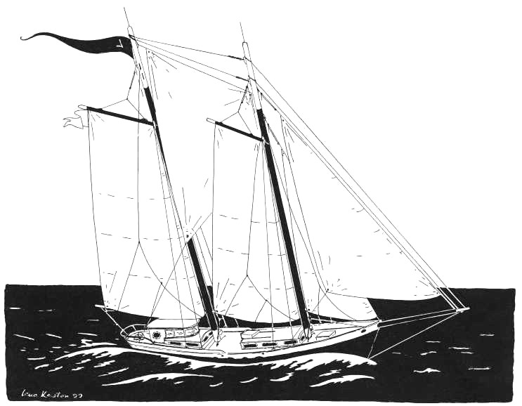 Drawing of the 50' Schooner - Lucille