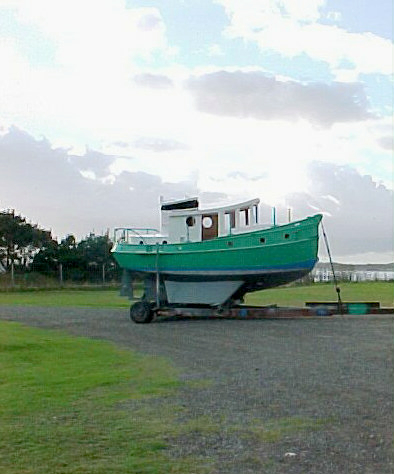 25' Boojum Tug Yacht on Trailer
