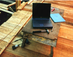 Computer in Use at Lofting Site - Kalimantan, Indonesia