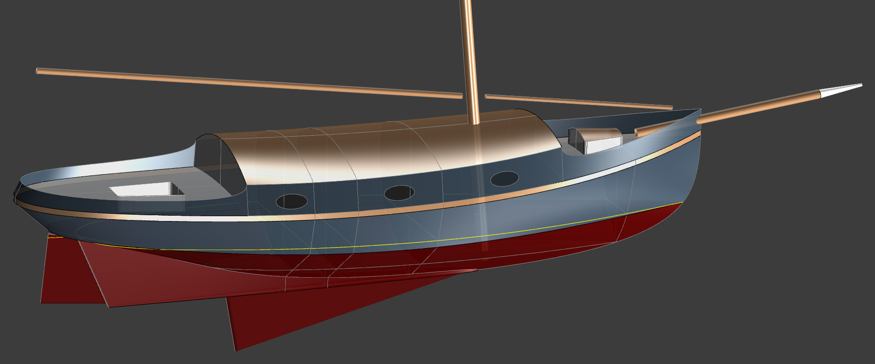 The 38' Cutter CHINA CAT - Kasten Marine Design, Inc.