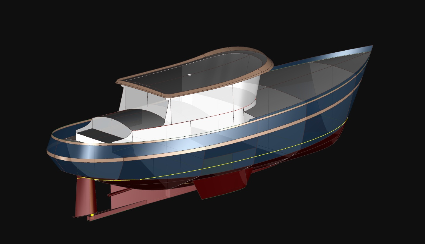 Far Horizon 43 - A Trawler Yacht by Kasten Marine Design, Inc.