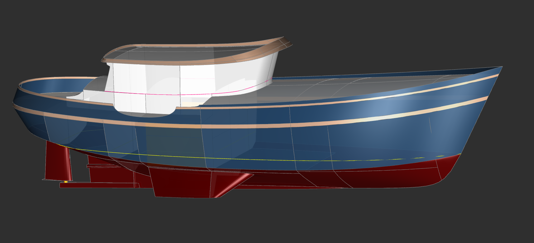 50' Trawler Yacht FAR HORIZON - Kasten Marine Design, Inc.
