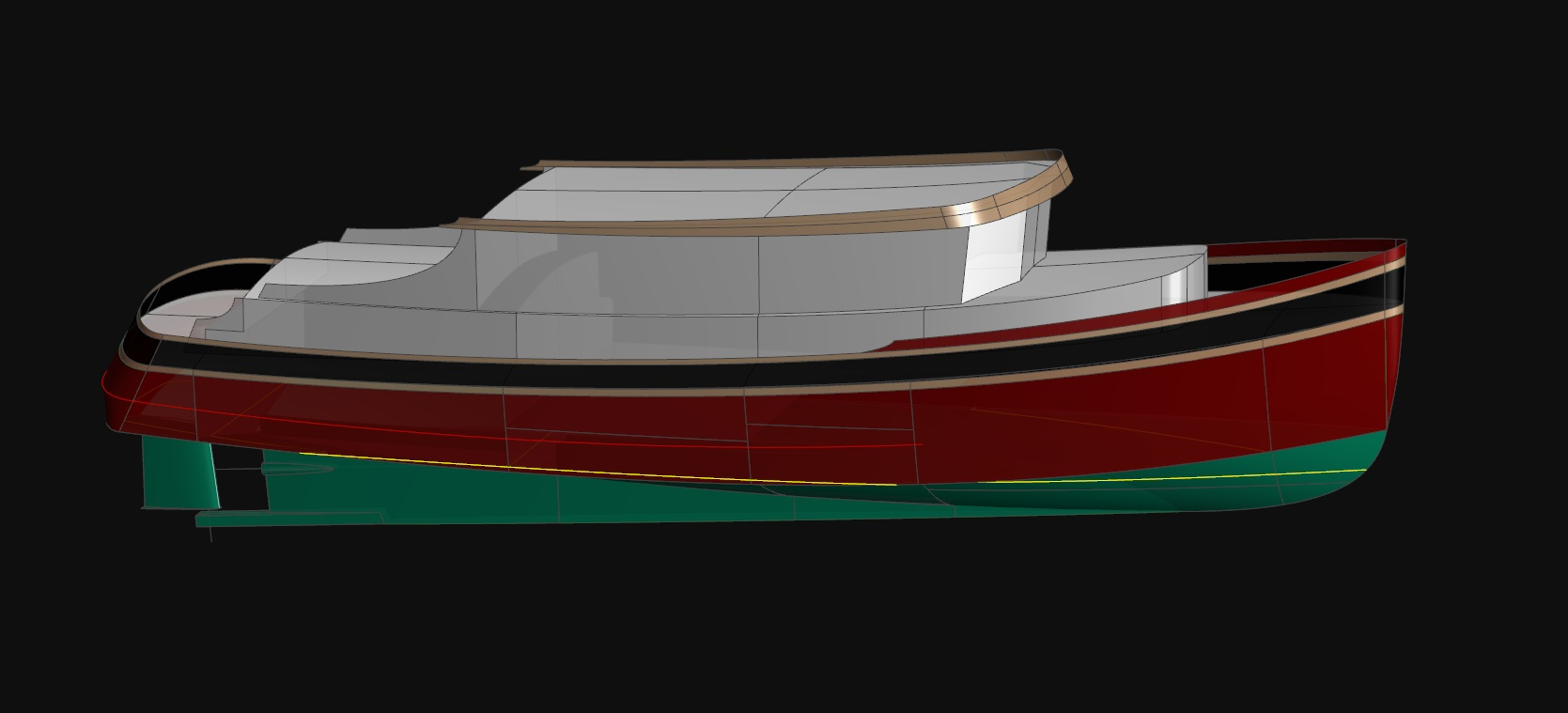 The 48' Fast Trawler Yacht - RHUMB RUNNER - Kasten Marine Design, Inc.