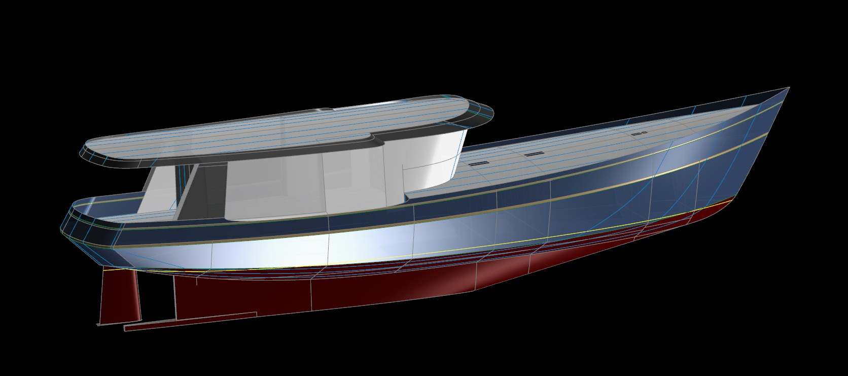 Swallows Nest 70 Trawler Yacht - Kasten Marine Design, Inc.